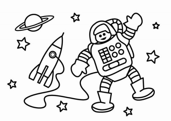 Dibujo Para Colorear Astronauta