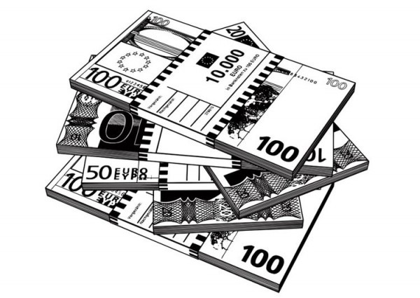 Dibujo Para Colorear Billetes