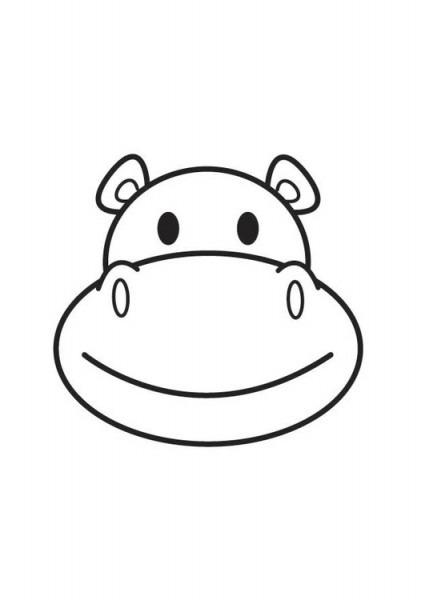 Cara De Hipopotamo Para Colorear