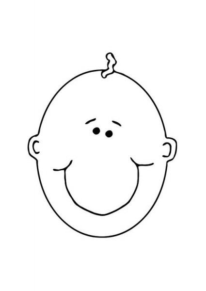 Dibujo Para Colorear Cara De Bebé