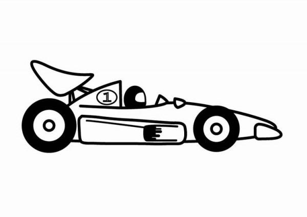 Dibujo Para Colorear Coche De Carreras De F1