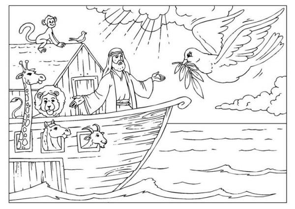 Dibujo Para Colorear El Arca De Noé