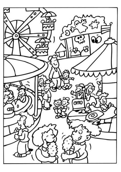 Dibujo Para Colorear Feria