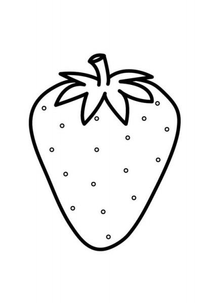 Dibujo Para Colorear Fresa