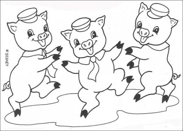 Dibujos Para Colorear Los Cerditos Bailando