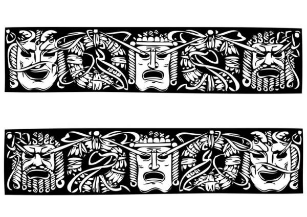 Dibujo Para Colorear Máscaras Griegas