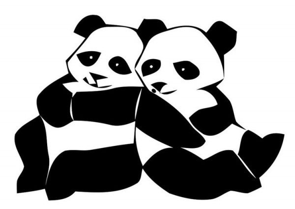 Dibujo Para Colorear Osos Panda
