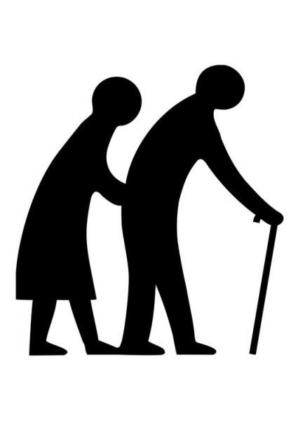 Dibujo Para Colorear Pareja De Ancianos