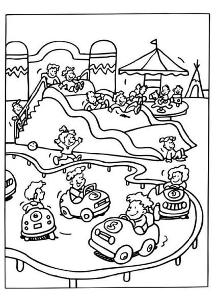 Dibujo Para Colorear Parque De Atracciones