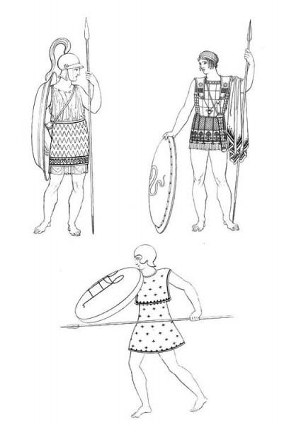 Dibujo Para Colorear Soldados Griegos