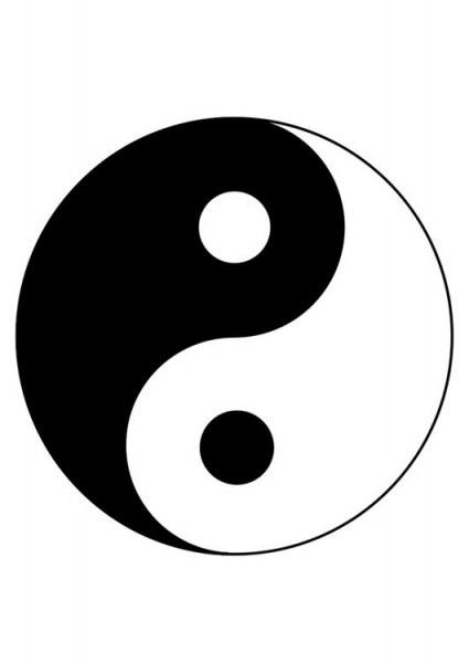 Dibujo Para Colorear Yin Yang