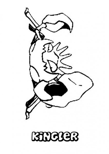 Dibujos Para Colorear Pokemon Kingler