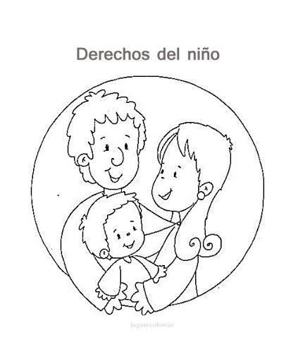 Derechos Del Niño Para Colorear Picasa