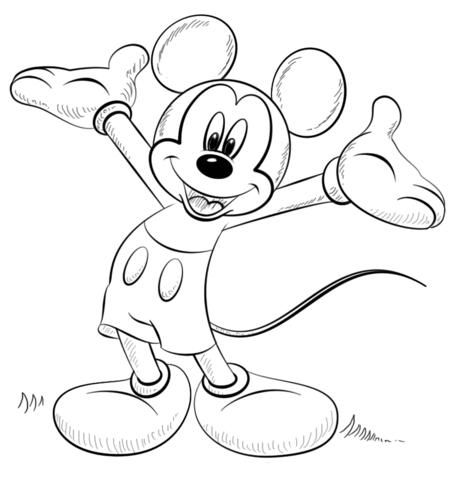 Dibujos Para Colorear De Mickey Mouse (pack 1)