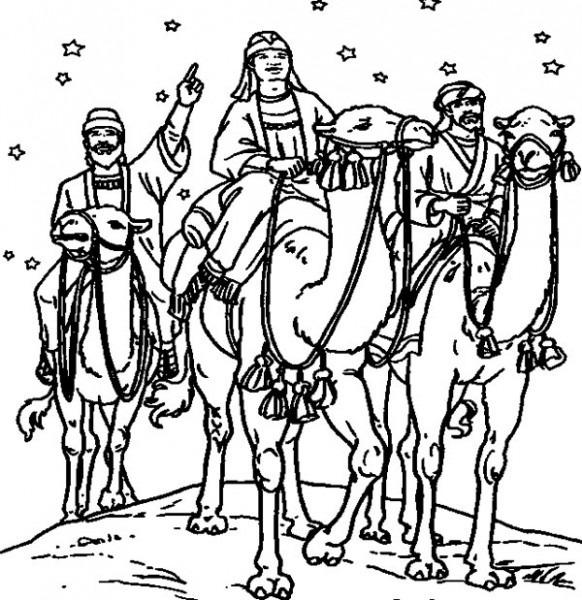 10 Dibujos De Los Reyes Magos Para Colorear Gratis