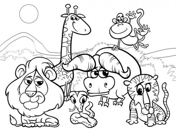Dibujos Para Colorear De Animales Salvajes