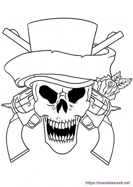 ▷ 32 Dibujos Y Mandalas De Calaveras Para Colorear 🥇 Día De Muertos