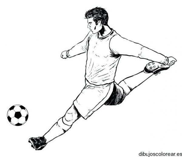 Dibujos De Futbol Dibujo Un Jugador Soccer Para Colorear Y