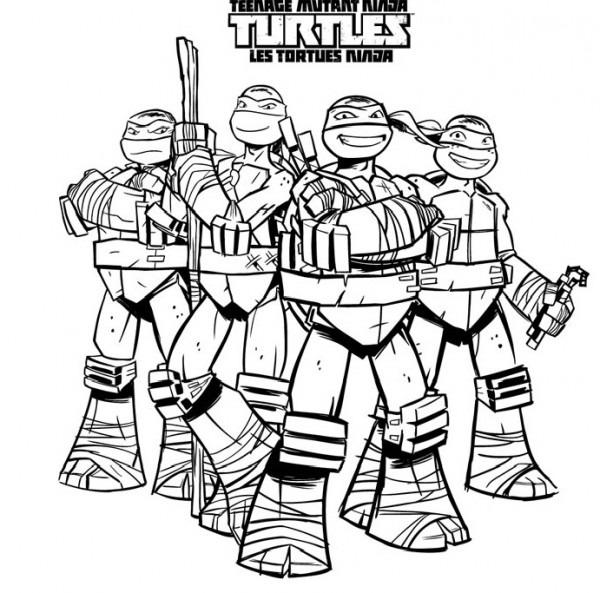 106 Dibujos De Las Tortugas Ninja Para Colorear