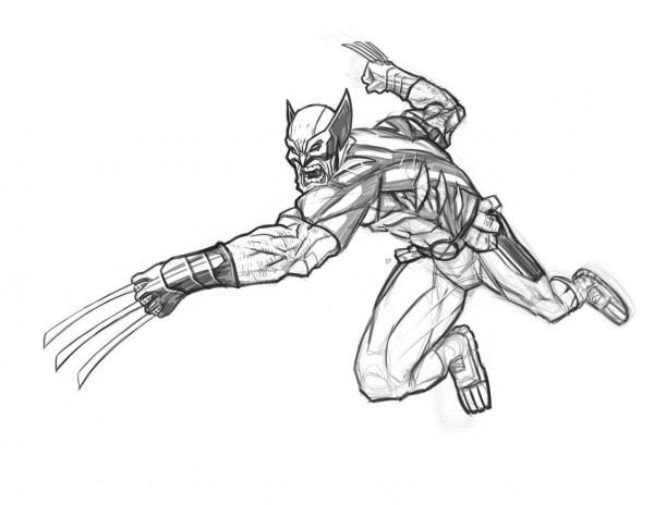 Imágenes De Wolverine Para Pintar