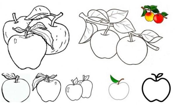 Colorear Frutas Y Verduras