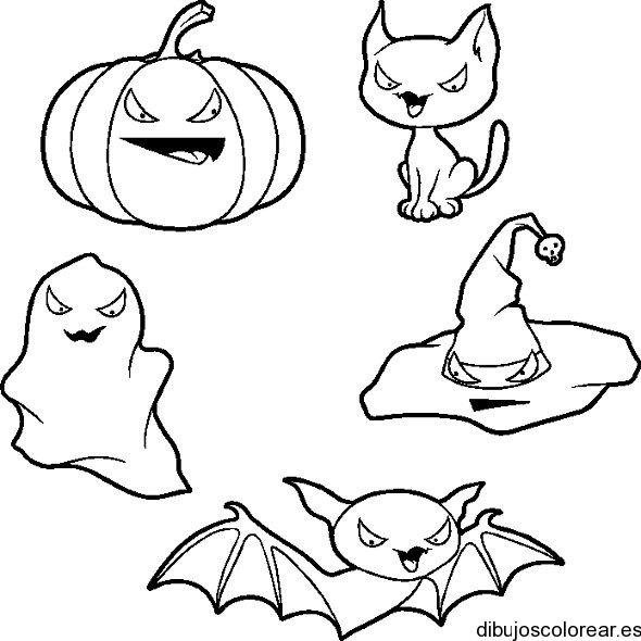 Dibujo De Un Grupo Listo A Halloween