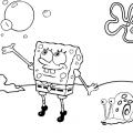 Dibujos Colorear Bob Esponja