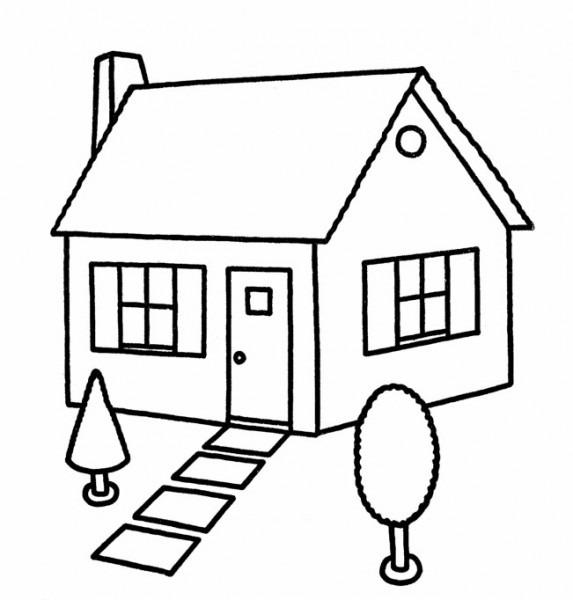 Dibujos Para Colorear De Casas Gratis