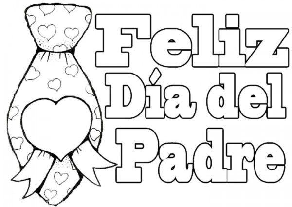 Modelos De Tarjetas Del Día Del Padre (para Imprimir Y Colorear