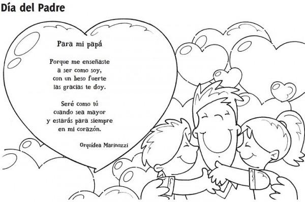 Dibujos Para Colorear El Dia Del Padre Con Frases
