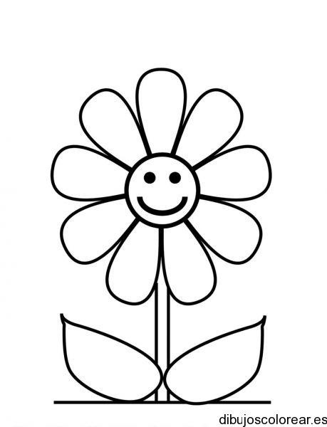 Dibujo De Una Margarita Sonriente