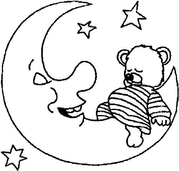 Dibujos De La Luna Para Colorear  Fotos Diseños Para Niños (foto