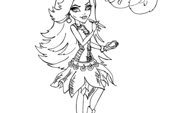√ Dibujos Para Pintar En El Ordenador De Monster High