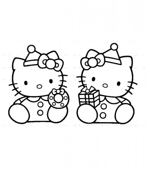 Dibujo Para Imprimir Y Colorear De Hello Kitty Regalos