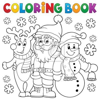 Dibujos Para Colorear Personajes De Navidad Pinturas Para La Pared