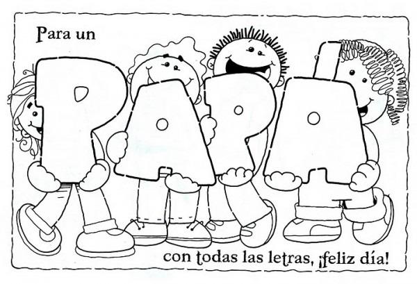 Dibujo Del Dia Del Padre Para Colorear