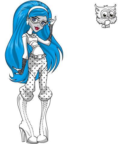 Dibujos Para Pintar En El Ordenador De Monster High