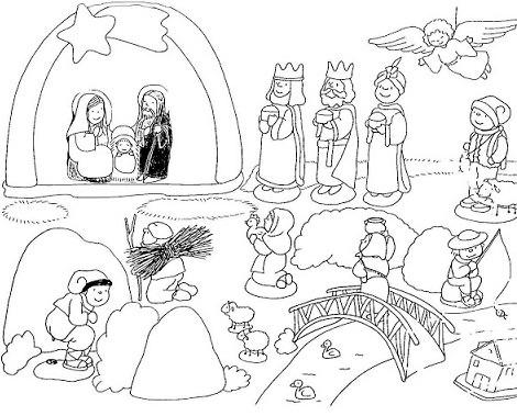 Dibujos para colorear del belen de navidad - Dibujos infantiles originales ...