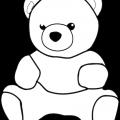 Teddy Bear Para Colorear