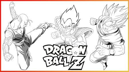 Dibujos Para Pintar De Goku Y Sus Amigos