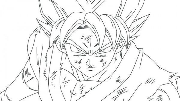 Dibujos De Goku Para Colorear En Paint