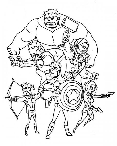 Avengers  64 (superhéroes) – Páginas Para Colorear
