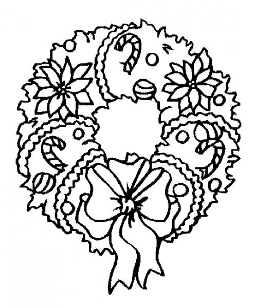 Corona De Navidad  3 (objetos) – Páginas Para Colorear