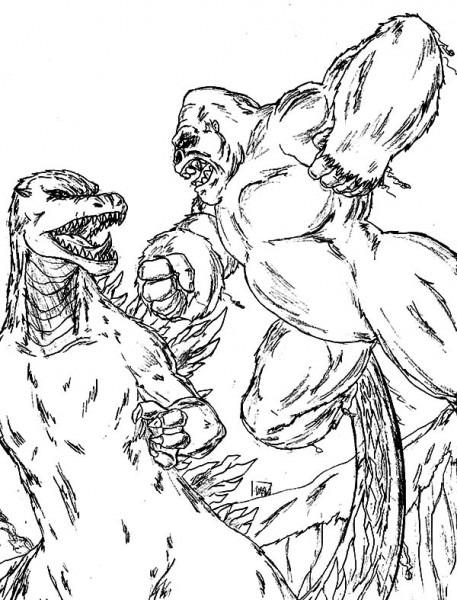 King Kong  10 (supervillanos) – Páginas Para Colorear