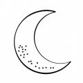 Dibujo Colorear Luna