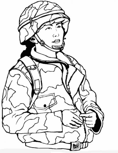 Militar  5 (ocupaciones) – Páginas Para Colorear