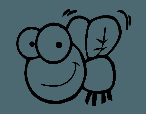 Mosca  1 (animales) – Páginas Para Colorear