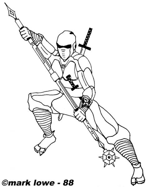 Ninja  35 (personajes) – Páginas Para Colorear