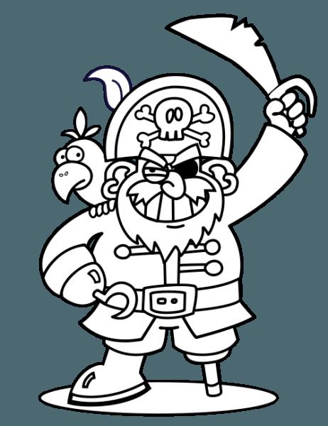 Pirata  163 (personajes) – Páginas Para Colorear