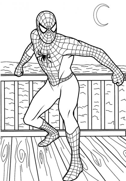 Spiderman  4 (superhéroes) – Páginas Para Colorear